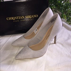 Grey Pumps NIB Size 7.5 Wide